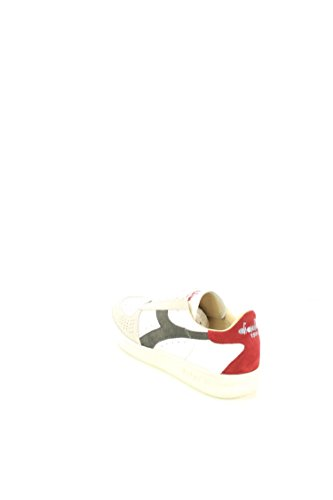 in E estraibile Uomo in Calzature pelle sneakers in scamosciata e ed b gomma plantare in con suola elite s riporti Bianco A V DIADORA pelle non l suede pelle wyTRpdTq