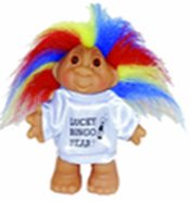 Lucky New Year Bingo Troll Doll with Awesome Rainbow /Psychedelic Hair 5