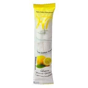 - Moist Cotton Towel - Lemon (Case of 50) by White Towel, 8x8