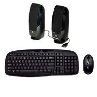 - Logitech EX100 Cordless Desktop Keyboard & Mouse with Speakers