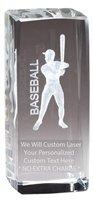 Express Medals Customizable Optical Crystal Baseball Trophy Award Gift