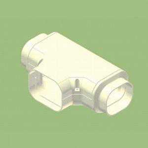 関東器材 10個セット 配管化粧カバー T型継手(チーズ) 異径アダプタ付 グレー KT-90-G_set   B008BO3J00