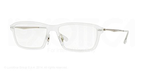 transparent ray ban glasses  amazon: ray ban rx rx7038 light ray eyeglasses 5452 matte transparent 53mm: shoes