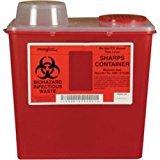 Bemis Healthcare 175 030 Translucent Red Sharps Container, 5 quart (Pack of 32)