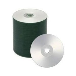 500 Spin-X 52x CD-R 80min 700MB Silver Inkjet Hub Printable by SpinX