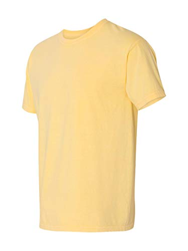 (Comfort Colors Men's Adult Short Sleeve Tee, Style 1717, Butter, Large)