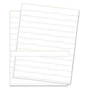 Bi-Silque Visual Communication Products Inc Data Card Replacement Sheet, 8 1/2 x 11 Sheets, White, 10/Pack (8 Pack)
