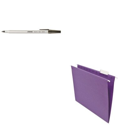 - KITUNV14120UNV27410 - Value Kit - Universal Hanging File Folders (UNV14120) and Universal Economy Ballpoint Stick Oil-Based Pen (UNV27410)