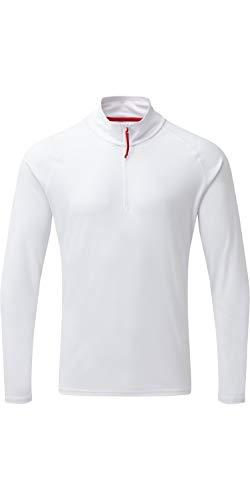 GILL 2019 Mens UV Tec Zip Neck Top White UV009 Mens - XS