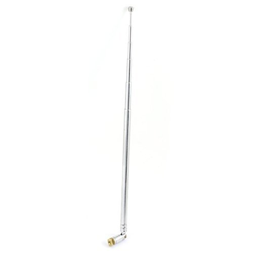 DealMux Straight Shaft 4 Sections Aerial 5.8cm-14.6cm Telescoping Whip Antenna