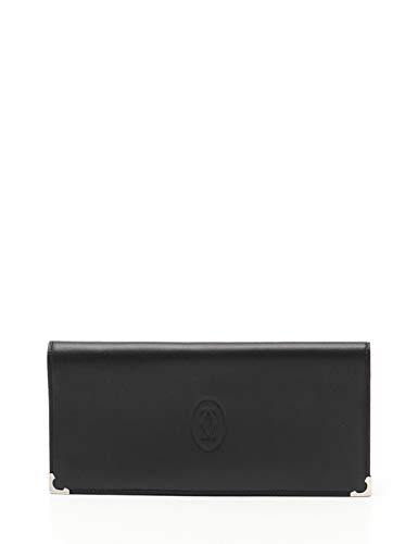 (カルティエ) Cartier カボション 二つ折り札入れ レザー 黒 L3000583 中古 B07PRBFRKV