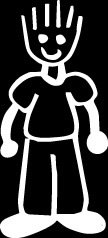 Spiked hair dad Stick Figure Family stick em up White vinyl Die Cut vinyl Decal sticker for any smooth surface