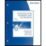 Statistics for Business and Economics, Anderson, David Ray and Sweeney, Dennis J., 0324200838