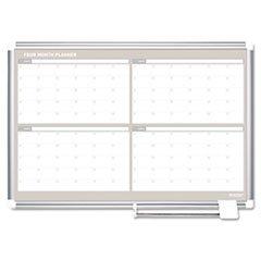 -- MasterVision 4 Month Planner, 36x24, Aluminum Frame