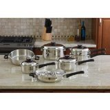 Maxam KT17 17-Piece 9-Element Surgical-Stainless-Steel Waterless Cookware Set (Rena Ware compare prices)