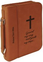 Leatherette Book/Bible Cover with Zipper & (Leatherette Handle)