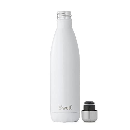 S'well Vacuum Insulated Stainless Steel Water Bottle, Double Wall, 25 oz, Angel Food