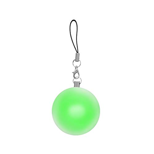 Jewel Keychain - DEKE- Purse round LED light, handbag, original bag illuminator. Automatic motion sensor activated lights. Hand bag with jewel case. Perfect gift. Keychain light. Leash. Luz cartera, mochila (green)