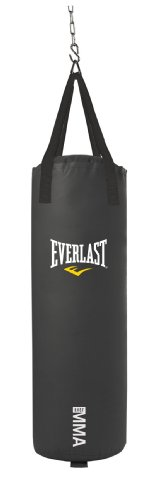 Everlast 70-Pound MMA Poly Canvas Heavy Bag (Black) (Best Heavy Bag Stand)
