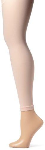 Sansha Girls Microfiber Footless Dance Tight, Ballet Pink, Medium/Large ()