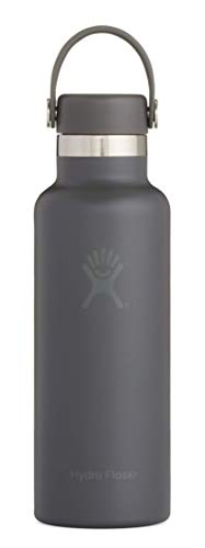 Hydro Flask Skyline Series 18 oz Double Wall Vacuum Insulated Stainless Steel Leak Proof Sports Water Bottle, Standard Mouth with BPA Free Flex Cap, Stone