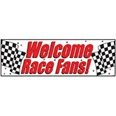 Pack of 6 ''Welcome Race Fans'' Giant Hanging Party Decoration Banner