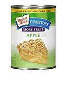 DUNCAN HINES COMSTOCK PIE FILLING APPLE MORE FRUIT 21 OZ