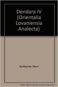 Book Dendara IV. Traduction (Orientalia Lovaniensia Analecta)