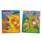 PMS Sew Your Own Dinosaur Kit / Age 6+ / Dinosaur Colour & Type May Vary by PMS