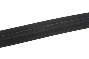 BBBelts Men 1.38 Black Bonded Leather Stitched Edges Slide Buckle Ratchet Belt