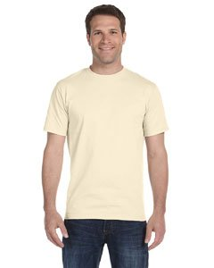 Hanes White Oxford (Hanes Beefy-T Adult Short-Sleeve T-Shirt)