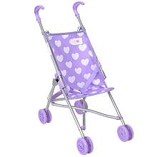 You and Me Umbrella Doll Stroller – Purple with White Hearts, Baby & Kids Zone