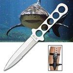 Mako Shark Dive Knife with Leg Strap Sheath