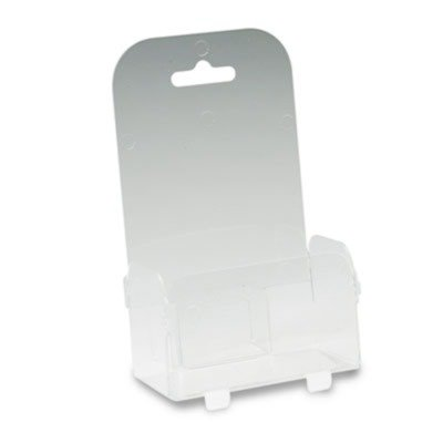 deflect-oamp;reg; Foldem-Up One-Pocket Plastic Leaflet Display Rack, Clear (Leaflet Display Rack Plastic)