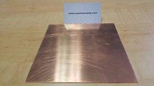 """JumpingBolt 22 ga Copper Sheet Metal Plate 12"""" x 12"""" Material May Have Surface Scratches"""
