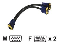 Cables To Go HD15M to Dual HD15F SXGA Monitor Y-Cable, 1 ft.