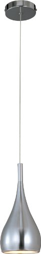 ET2 E24055-SN Teardrop 1-Light Single Pendant, Satin Nickel Finish, Glass, MB Incandescent Incandescent Bulb, 5W Max., Wet Safety Rated, 3000K Color Temp., Metal Shade Material, 2880 Rated Lumens - 1 Light Drop Pendant