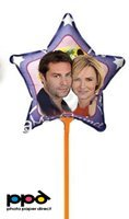 PPD Inkjet Star Shape Printable Personalized Balloons A4 (8.27x11.69'' Similar to 8.5x11