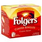 Folgers Coffee Singles - 19 packets per box, 12 boxes per case