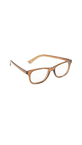 The Book Club Women's Grime in Banishment Glasses, Cola, Brown, Clear, One Size