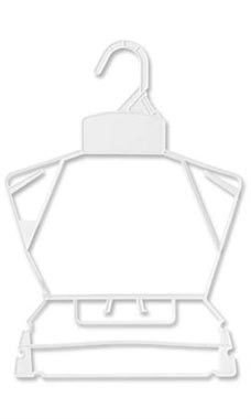 Children's White Plastic Clothing Set Economy Hangers (Case of 250) - STOR-25142