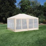 Sun-Mart Deluxe Screen House, Party Tent 15x12ft Beige, Outdoor Stuffs