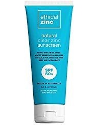 Ethical Zinc SPF 50+ Natural Clear Zinc Sunscreen Sensitive & Reef Safe - Australian ()