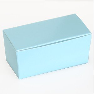 Light Blue Small Ballotin Favor Box (2 5/8in. L x 1 1/4in. W x 1 1/4in. H) - pack of 10