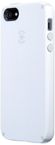 Speck Products CandyShell Case for iPhone SE, 5 & 5s - White/Pebble Grey (Renewed)