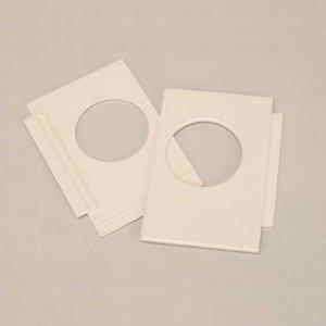 フソー化成 100枚セット 小窓パネル アイボリー KP-65_set B0087VMKI4