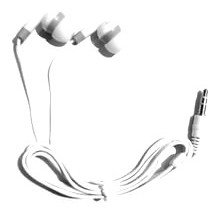 TFD Supplies Wholesale Bulk Earbuds Headphones 200 Pack For Iphone, Android, MP3 Player - White/Gray
