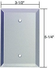 CRL Blank Glass Mirror Plate - Clear Crl Blank Glass Mirror Plate