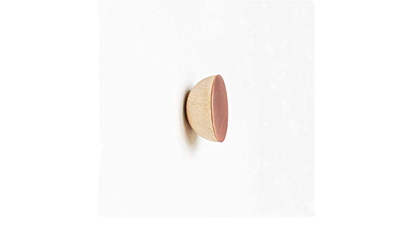 /ø1.9 Inch Round Beech Wood /& Copper Wall Mounted Coat Hook//Knob Set of 2