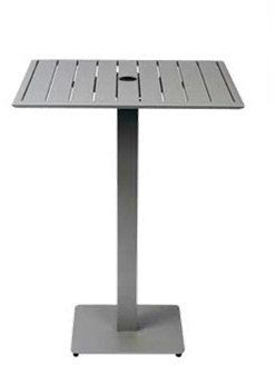South Beach Bar Outdoor (BFM Seating South Beach Aluminum Square Bar Height Patio Dining Table)
